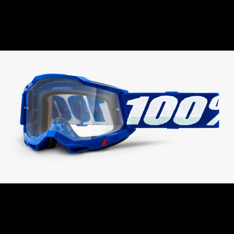 100% 100% ACCURI 2 Goggle Blue - Clear Lens