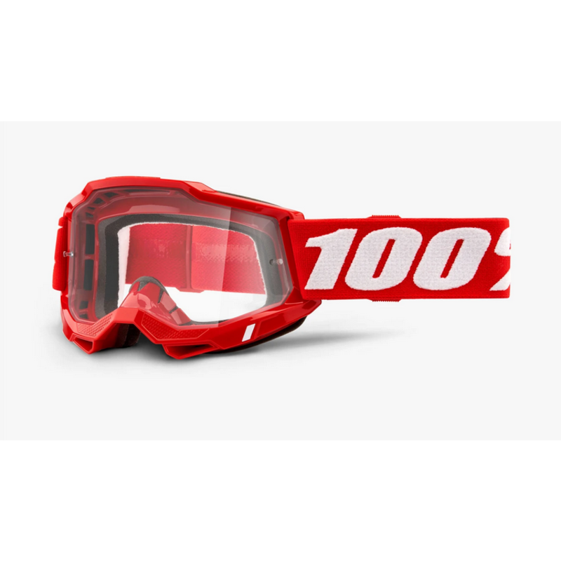 100% 100% ACCURI 2 Goggle Red - Clear Lens