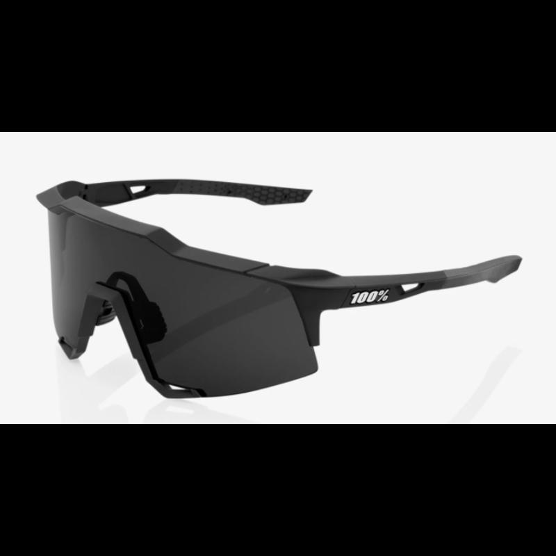 100% 100% Speedcraft - Soft Tact Black - Smoke Lens