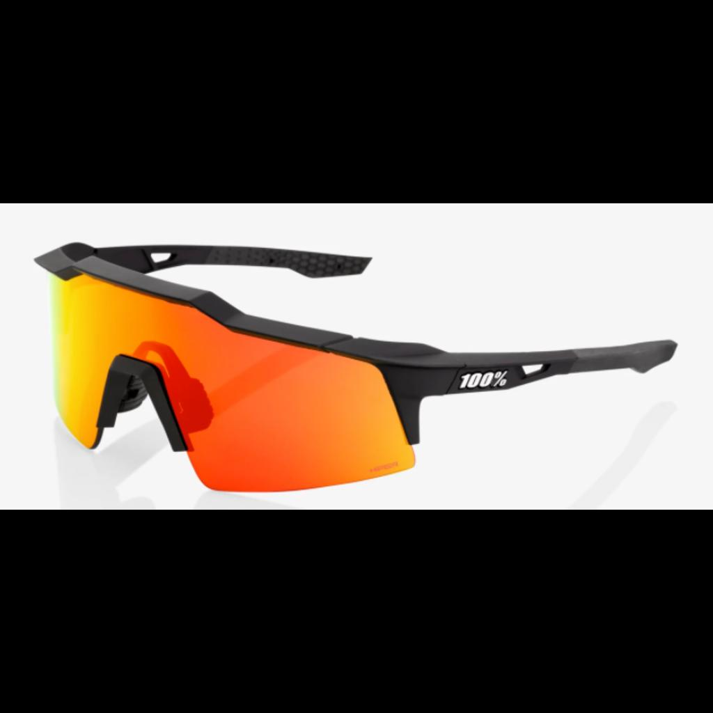 100% 100% Speedcraft SL - Soft Tact Black - HiPER Red Multilayer Mirror Lens