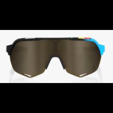 100% 100% S2 - BWR - Black - Soft Gold Mirror Lens