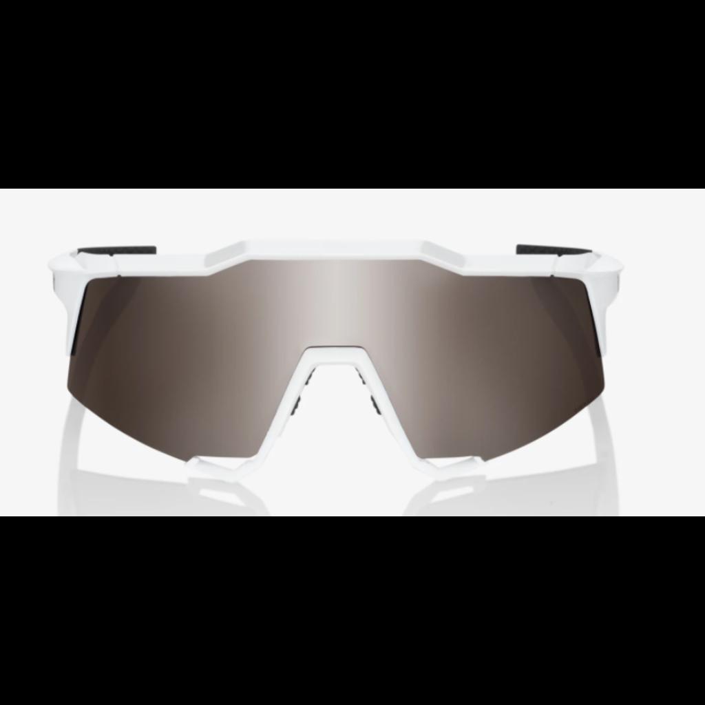 100% 100% Speedcraft - Matte White - HiPER Silver Mirror Lens