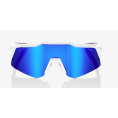 100% 100% Speedcraft XS - Matte White  - Blue Multilayer Mirror Lens