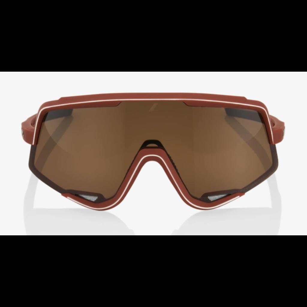 100% 100% Glendale - Soft Tact Bordeaux - Bronze Lens