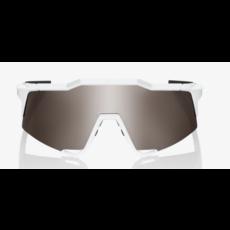 100% 100% Speedcraft XS - Matte White - HiPER Silver Mirror Lens