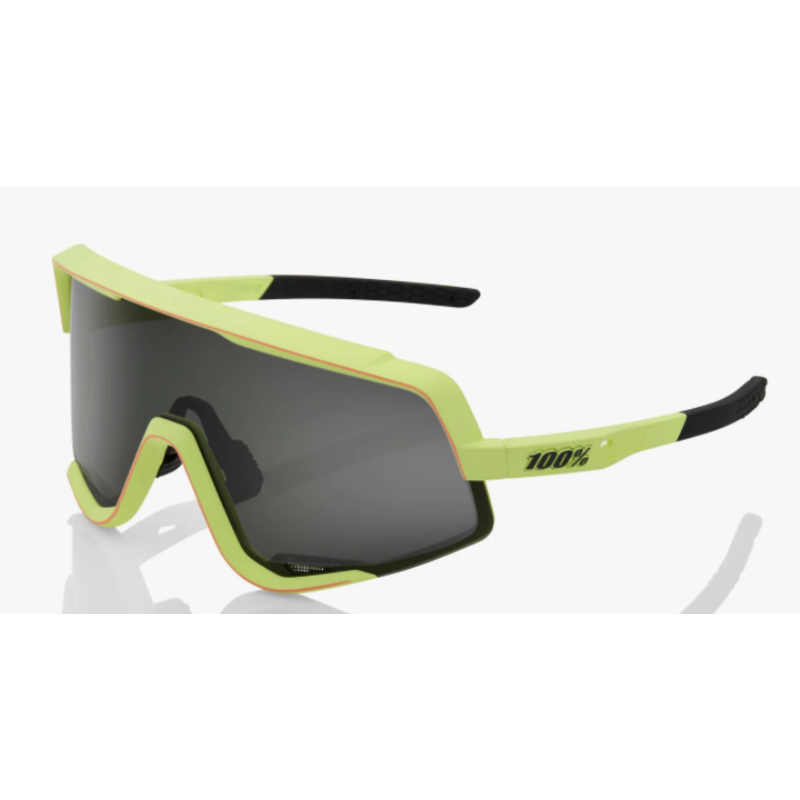 100% 100% Glendale - Soft Tact Washed Out Neon Yellow - Smoke Lens