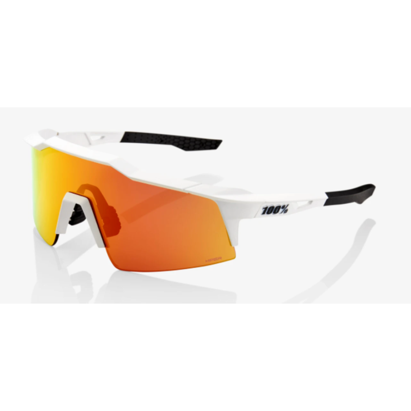 100% 100% Speedcraft SL  - Soft Tact Off White - HiPER Red Multilayer Mirror Lens