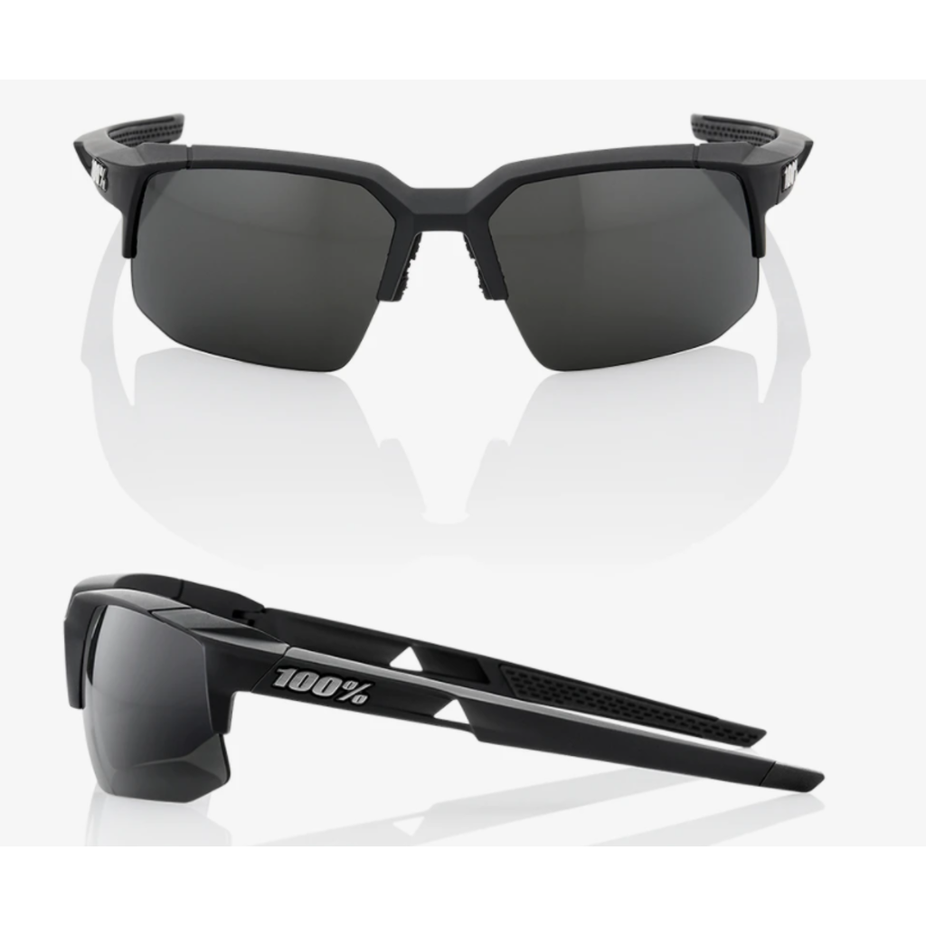 100% 100% Speedcoupe - Soft Tact Black - Smoke Lens