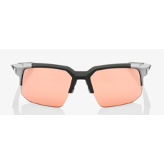 100% 100% Speedcoupe - Soft Tact Stone Grey - HiPER Coral Lens