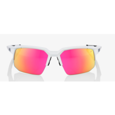 100% 100% Speedcoupe Soft Tact Off White - Purple Multilayer Mirror Lens