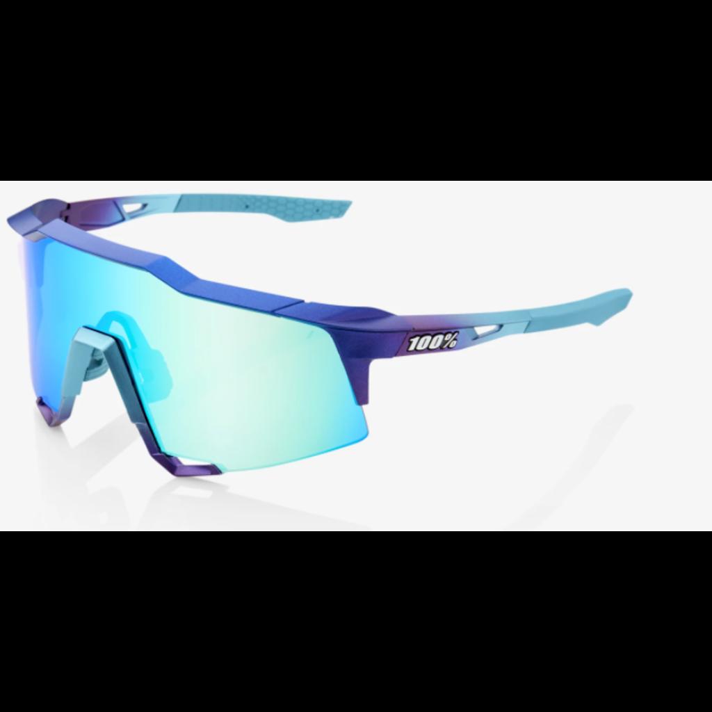 100% 100% Speedcraft - Matte Metallic Into the Fade - Blue Topaz Multilayer Mirror Lens