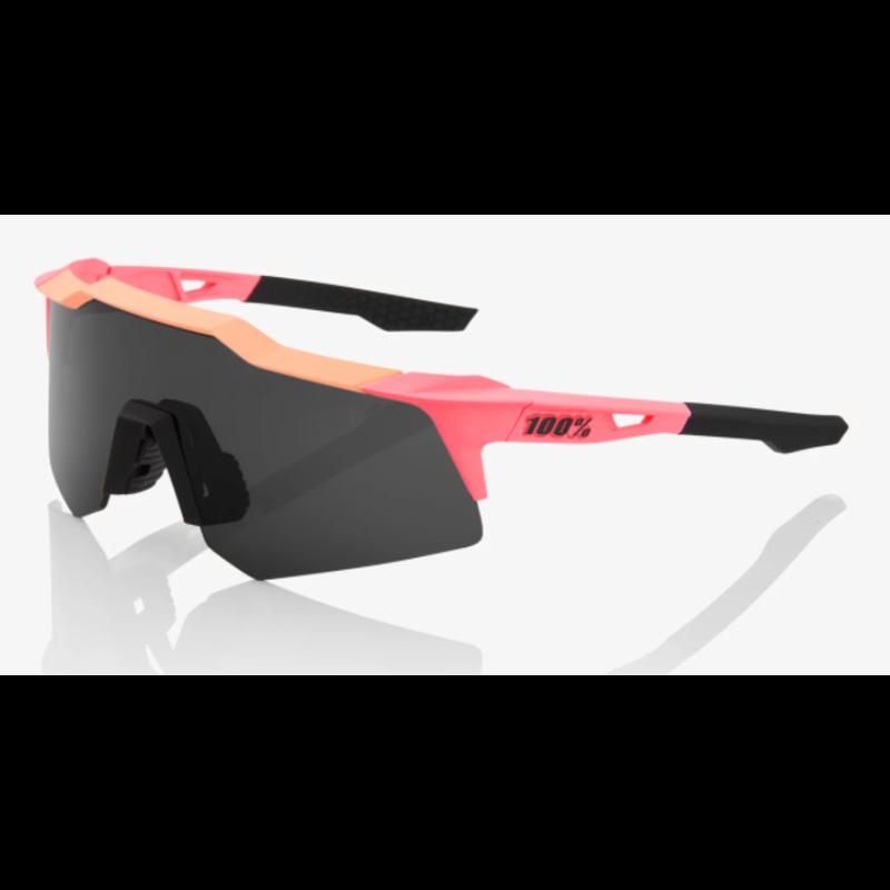 100% 100% Speedcraft XS - Matte Washed Out Neon Pink - Smoke Lens