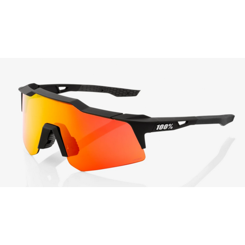 100% 100% Speedcraft XS - Soft Tact Black - HiPER Red Multilayer Mirror Lens