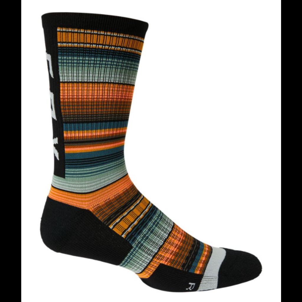 """FOX FOX 8"""" Ranger Cushion Sock GRN/ORG S/M"""