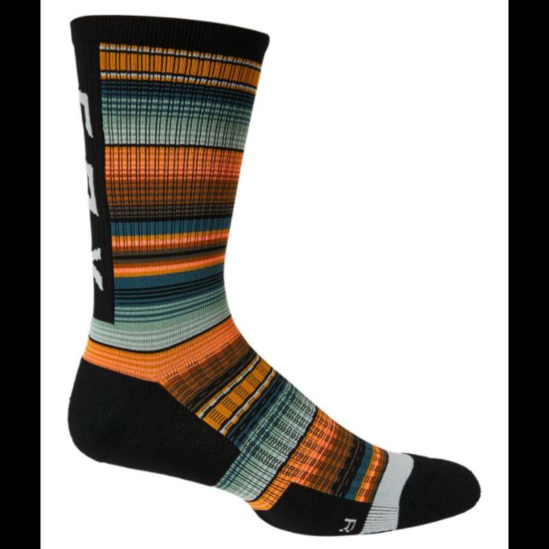 """FOX FOX 8"""" Ranger Cushion Sock GRN/ORG L/XL"""