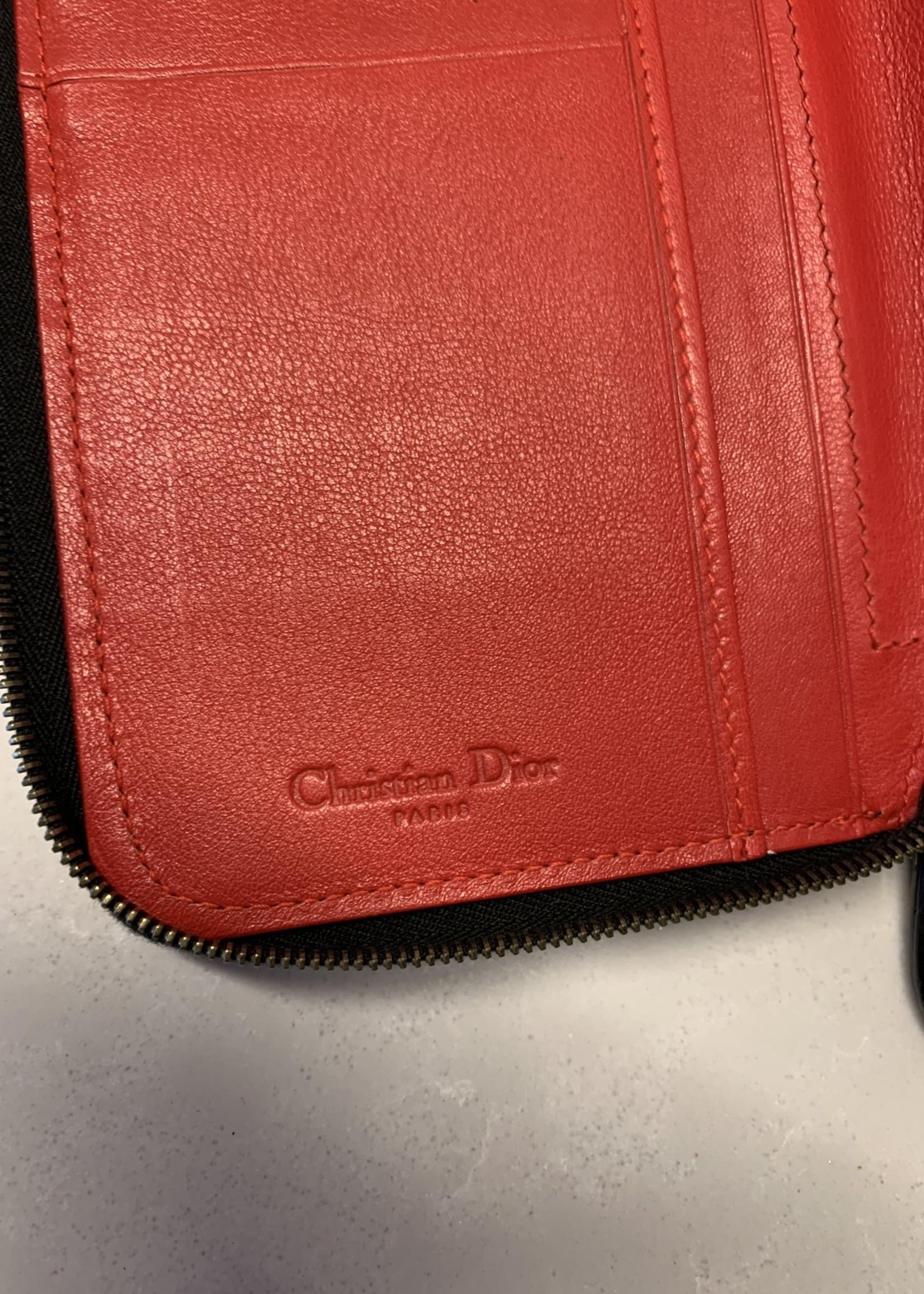 Dior Vintage Leopard Zip Around Wallet