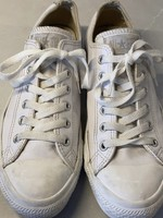 Converse White Leather Low Top Sneakers 7.5