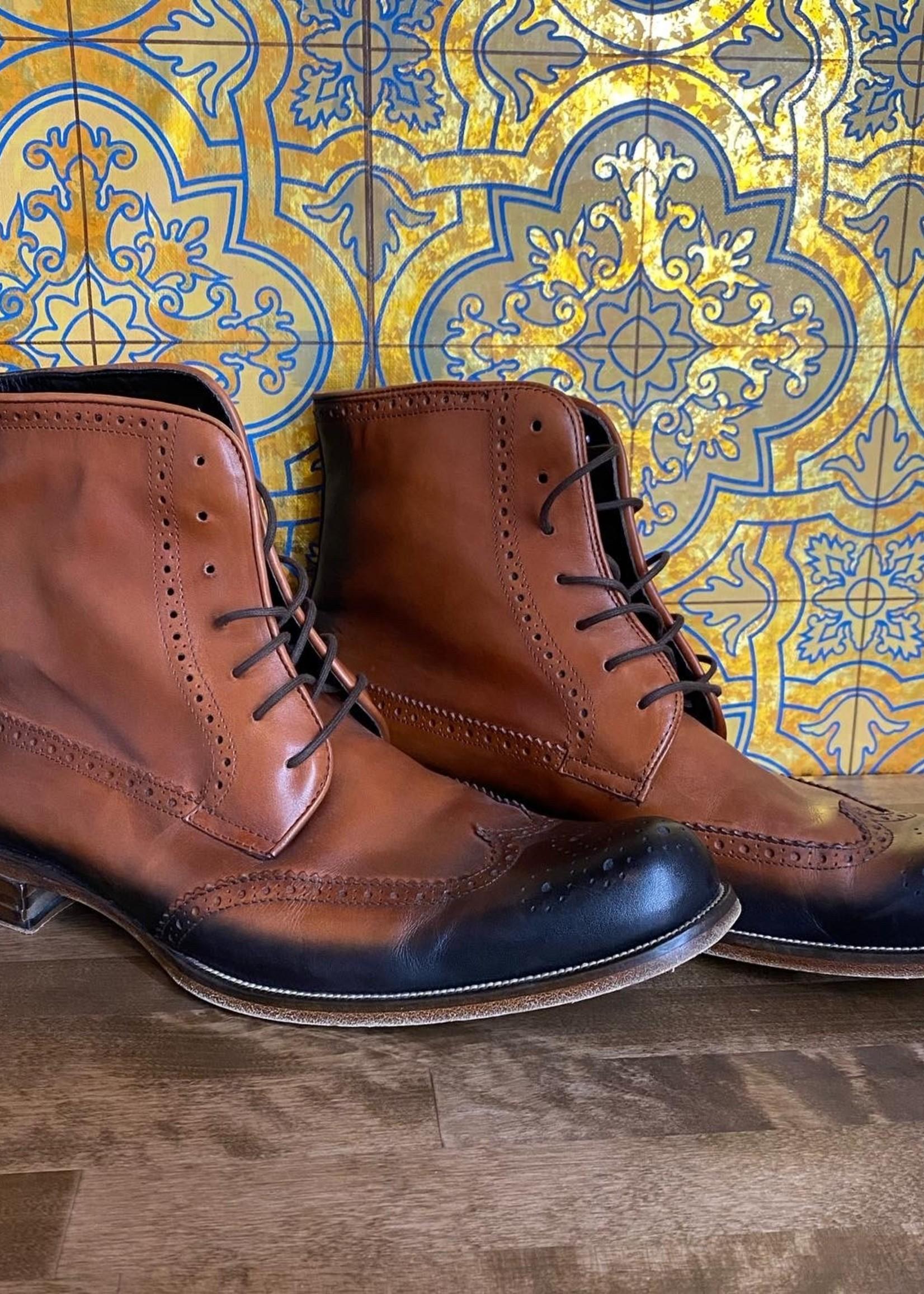 Dsquared2 Brown/Black Wingtip Boot 12