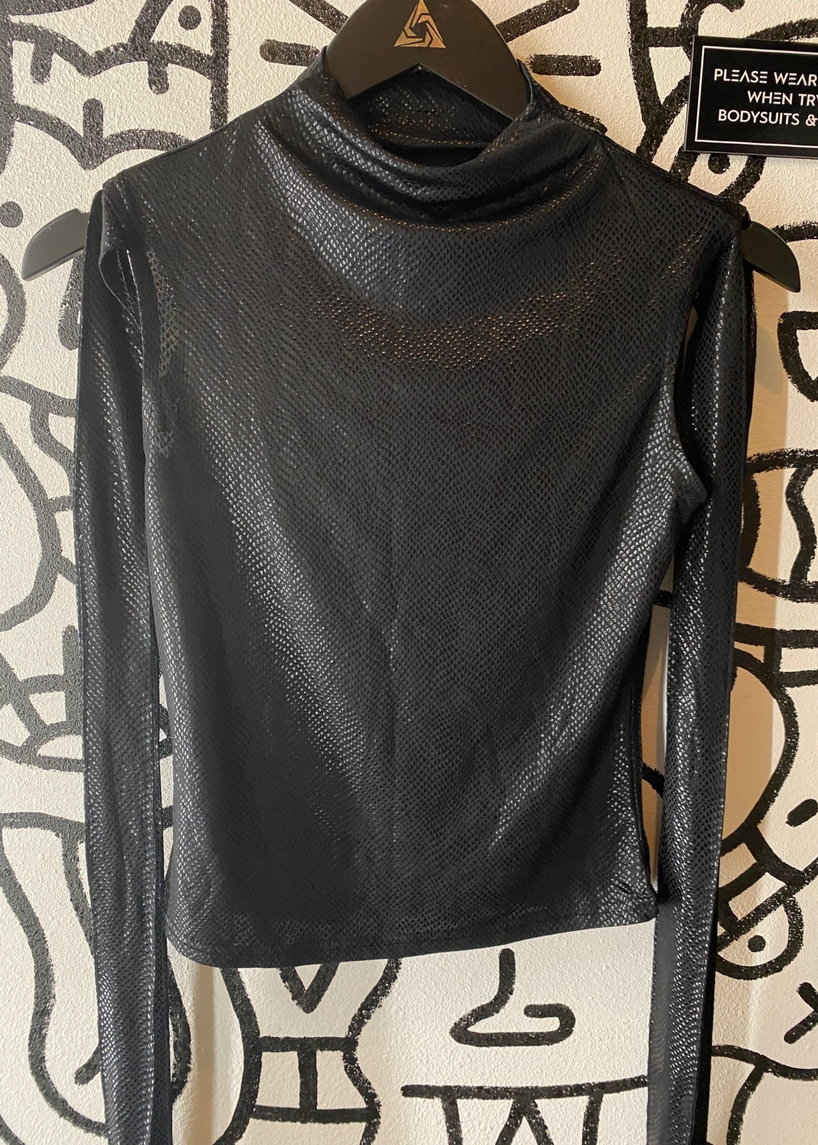 Black Strappy Long Sleeve M