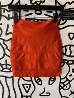 Bebe Red Bodycon Skirt S