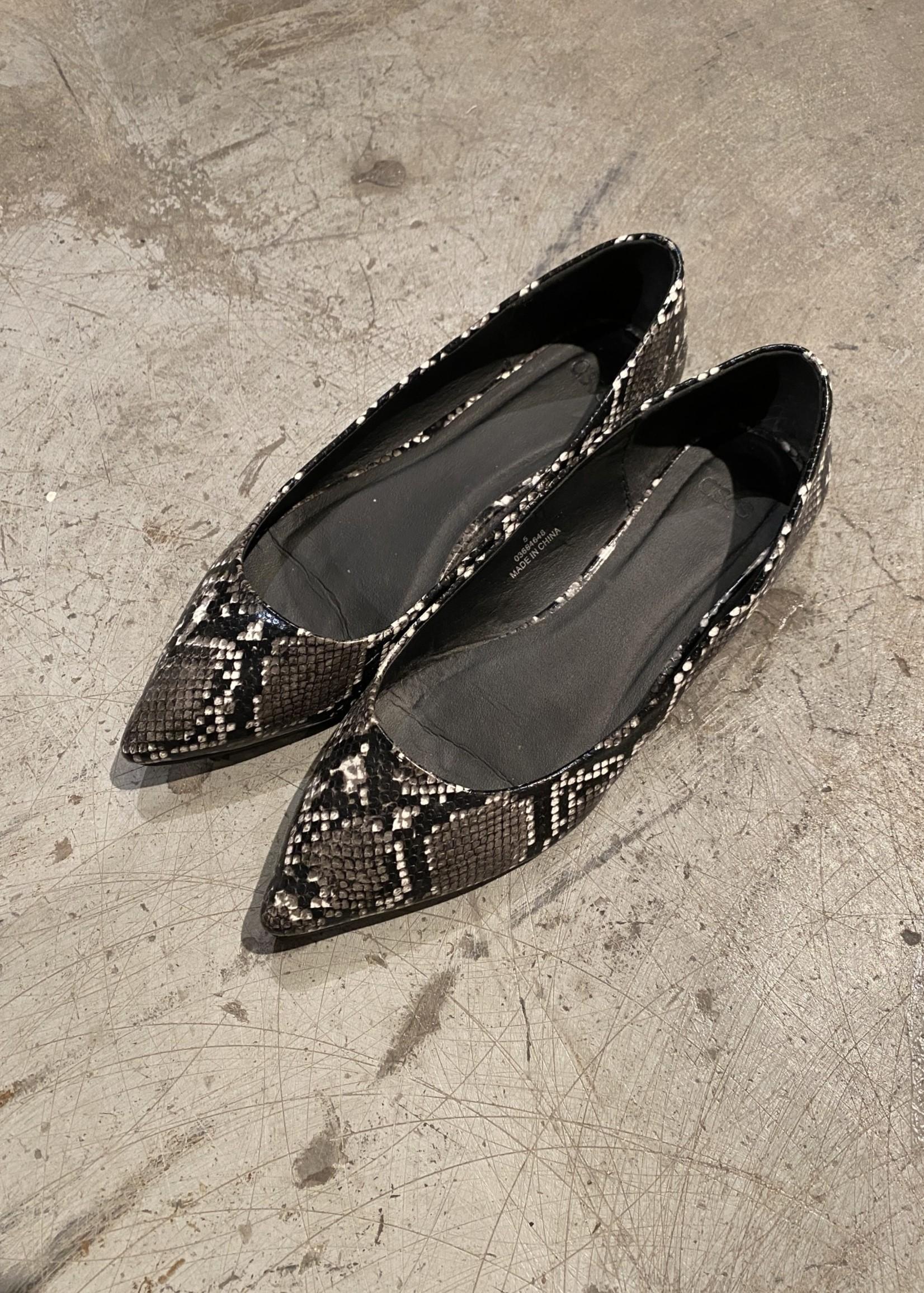 ASOS Black/Grey Reptile Flats 38