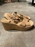 Kork-Ease Tan Leather Cork Platform Sandals 8