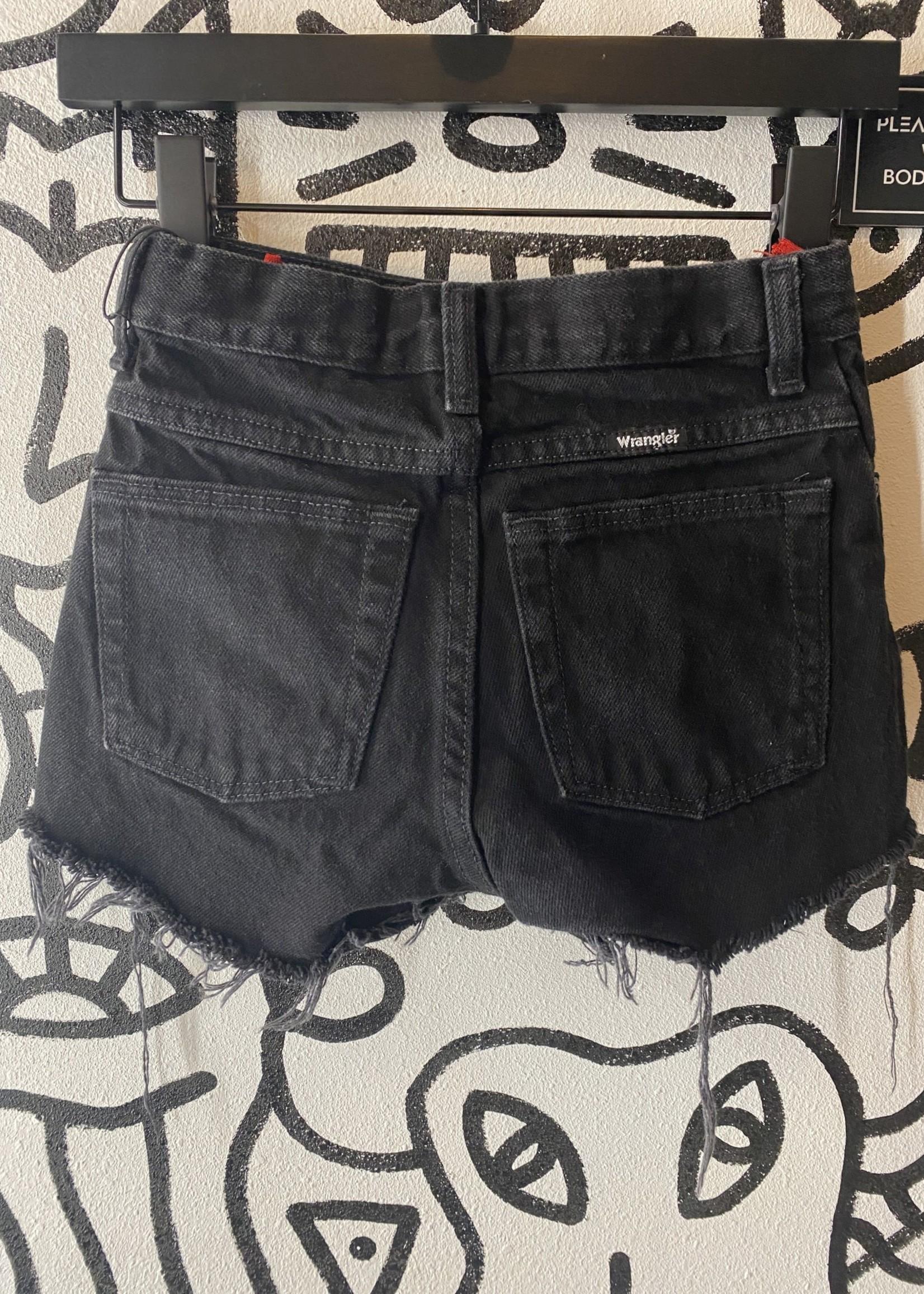 Wrangler Black Denim Shorts 23