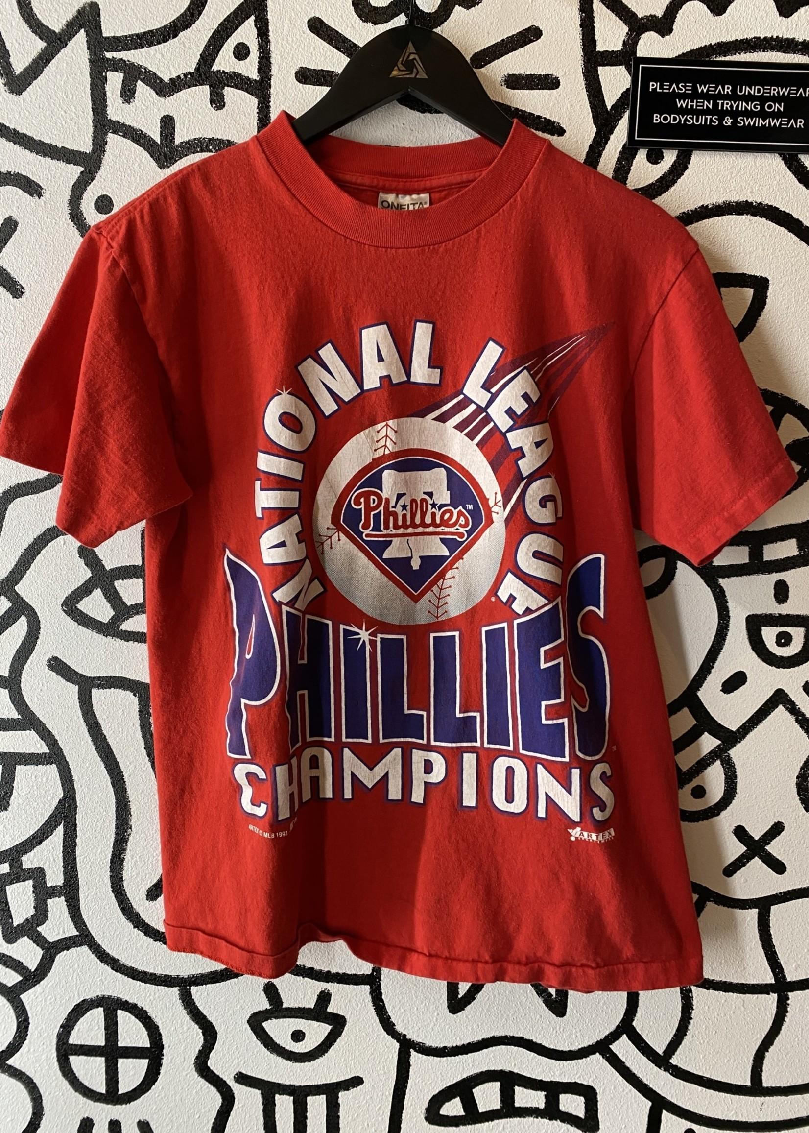 93 Phillies Champions Vintage Tee M