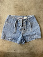 Americana Blues Vintage Lace Jean Shorts 25
