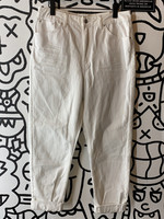 Topshop 'Mom' White Jeans