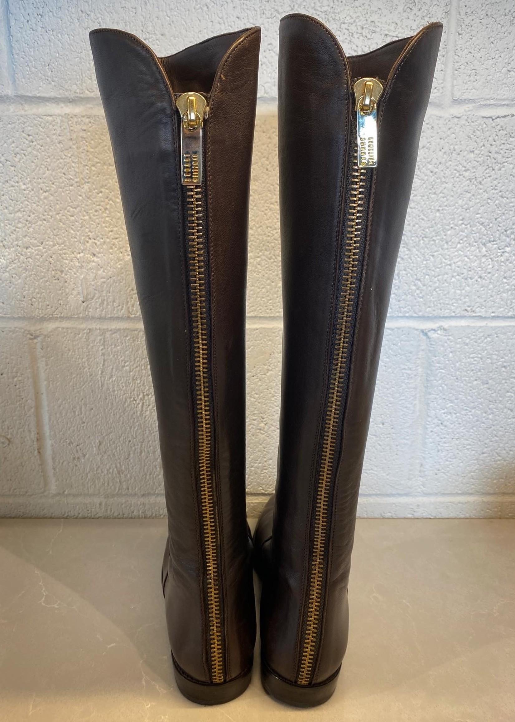 Stuart Weitzman Brown Leather Boots 8