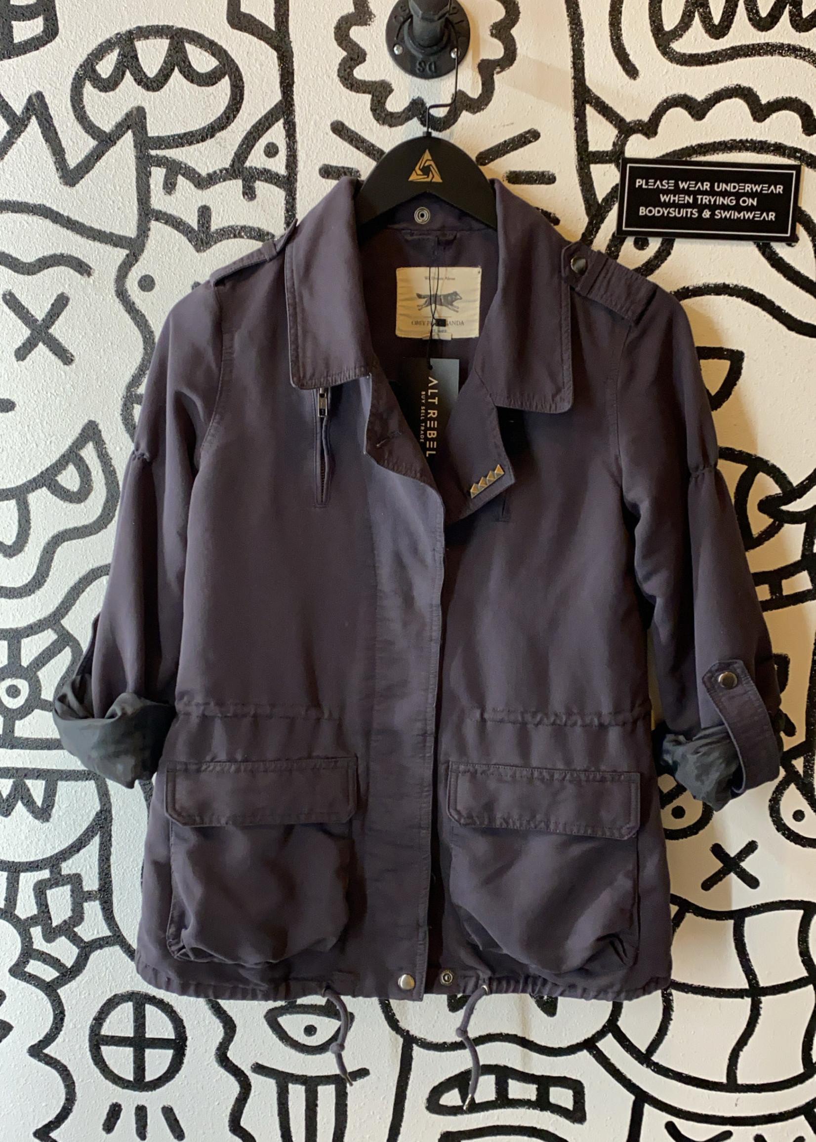 Obey Dark Grey Button Up Jacket XS