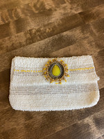 Handmade White Crochet Coin Pouch