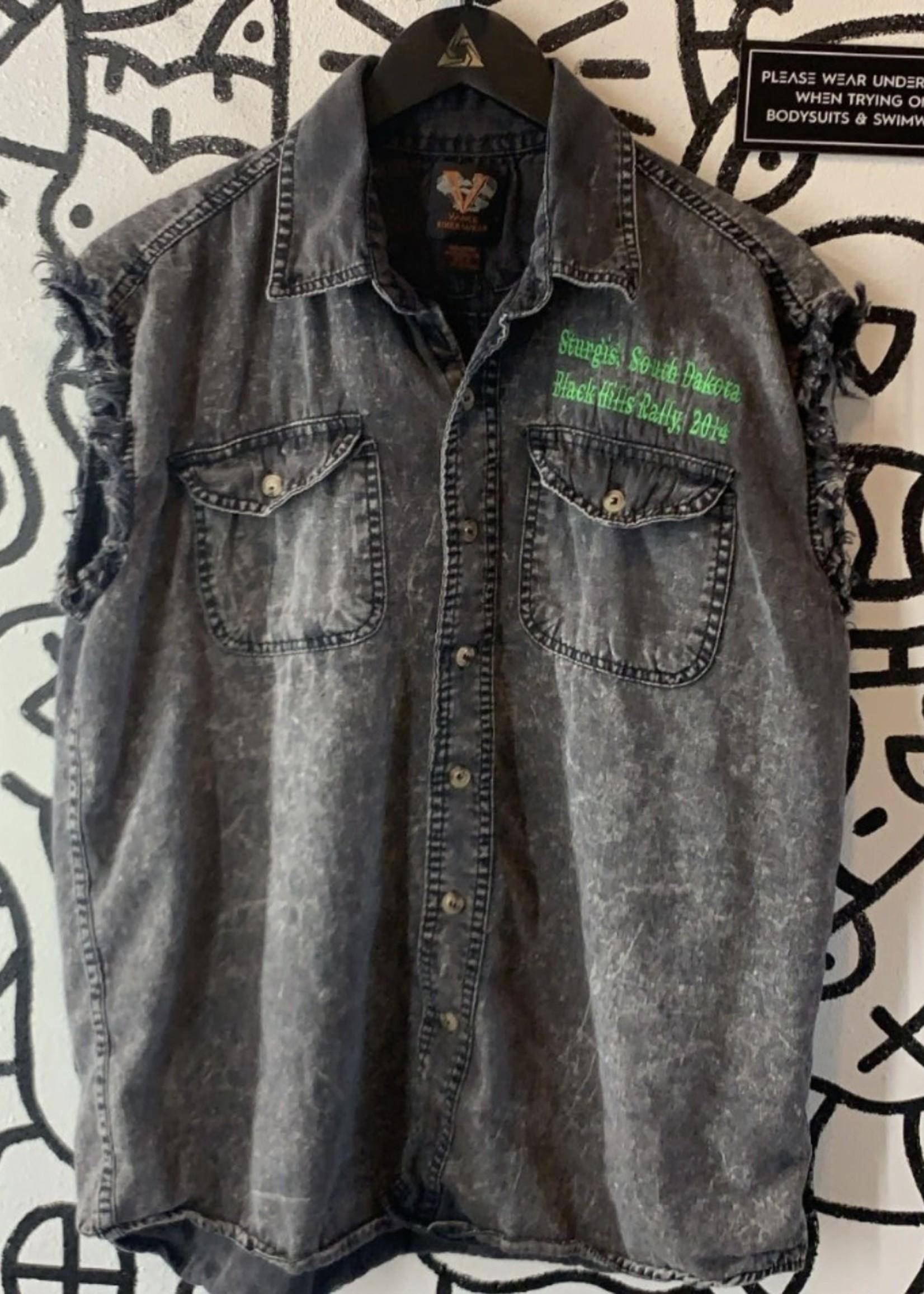 Vance Biker Wear Distressed Sturgis Vest L