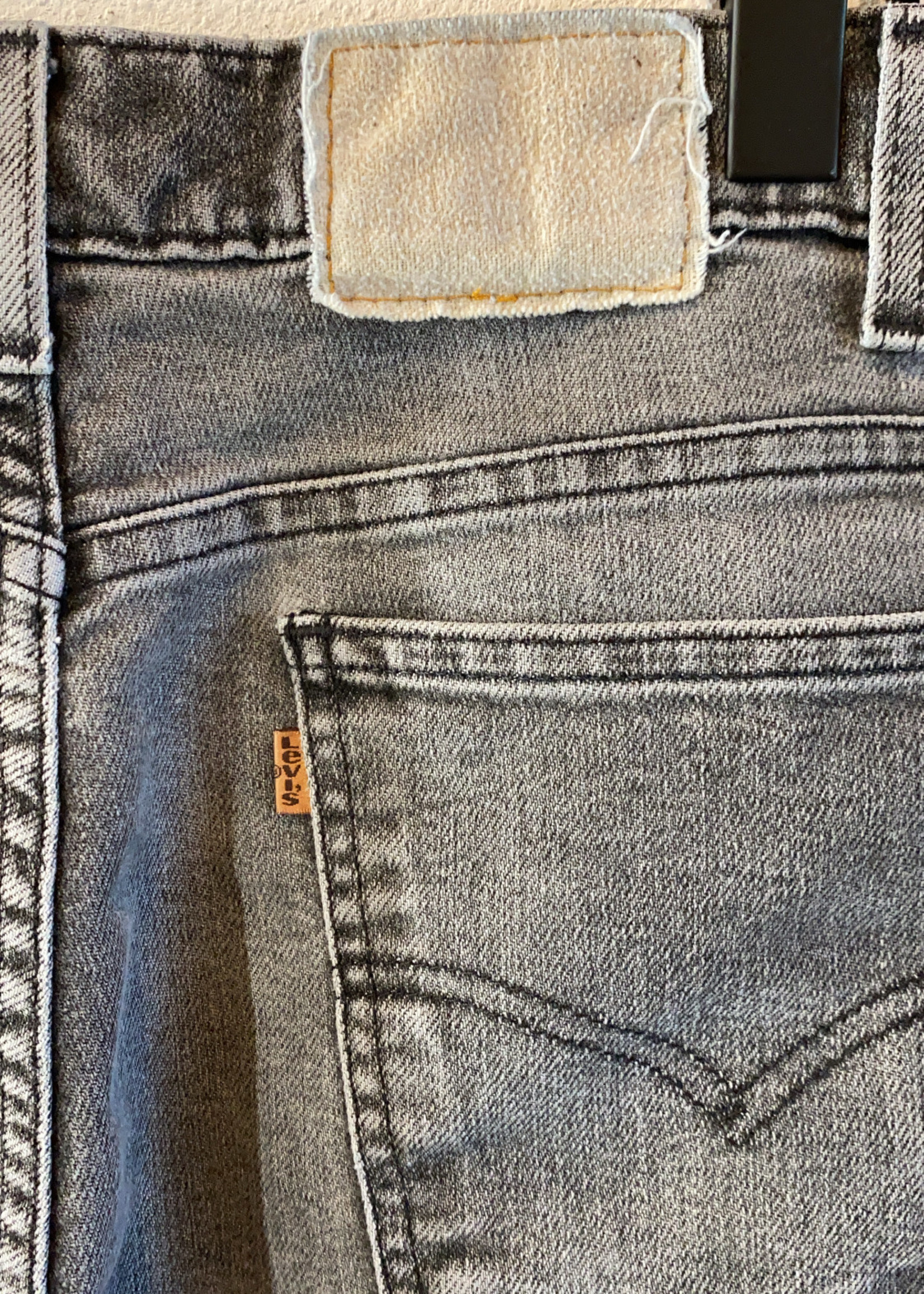 Vintage Levis 1989 faded black jeans 38x29
