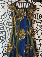No Label Vintage Blue Floral Print Dress XS