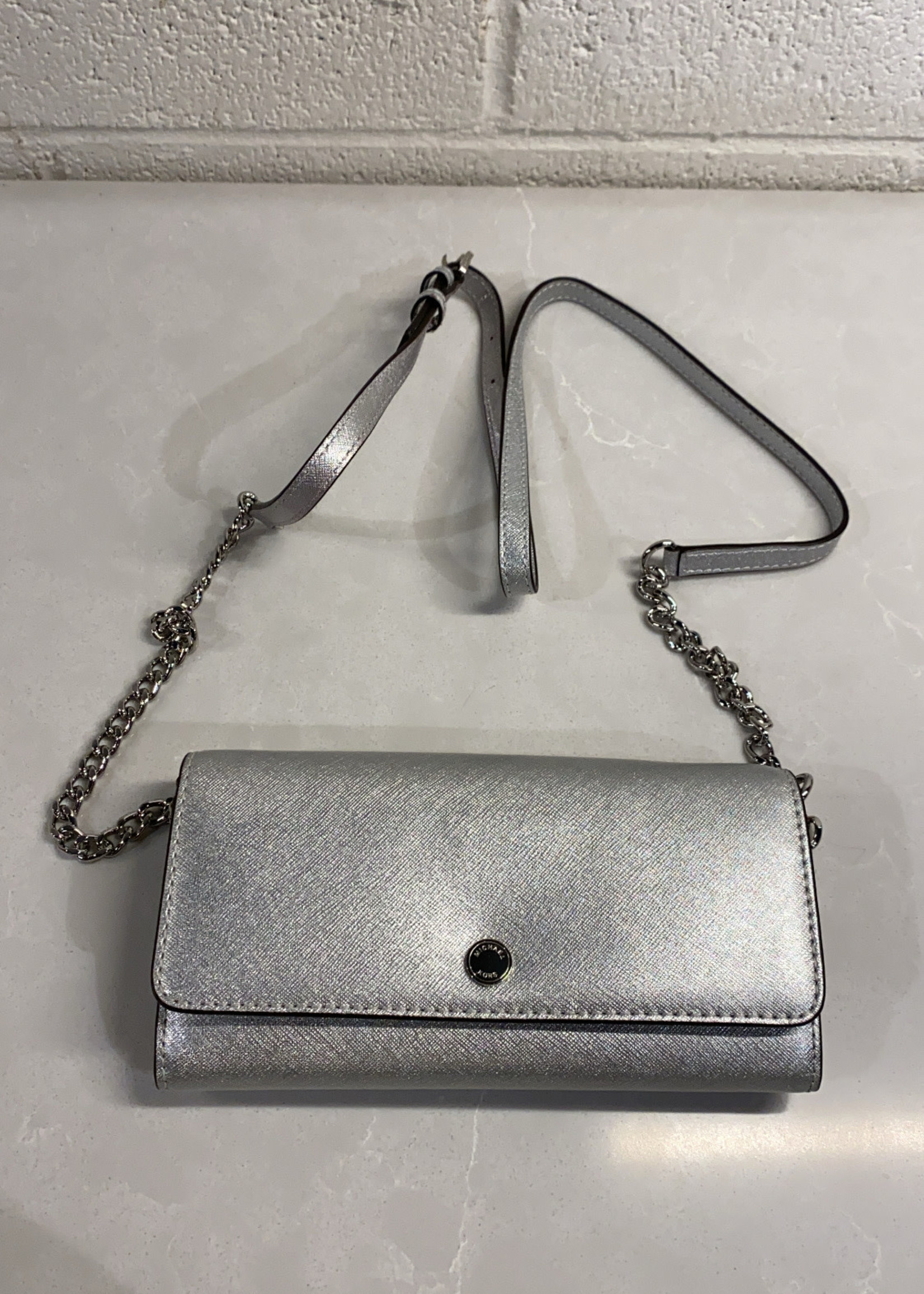Michael Kors Silver Wallet on Chain