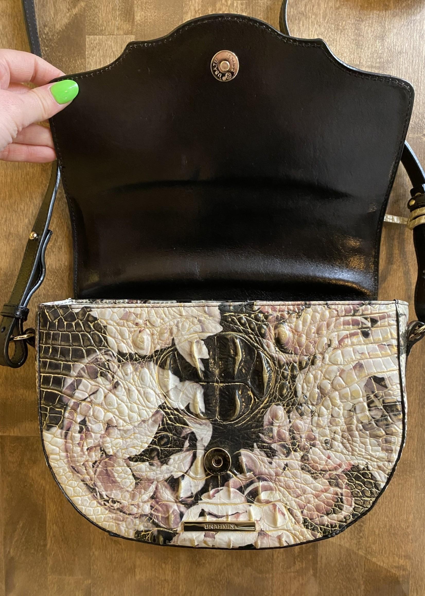 Brahmin Leather Snakeprint Crossbody