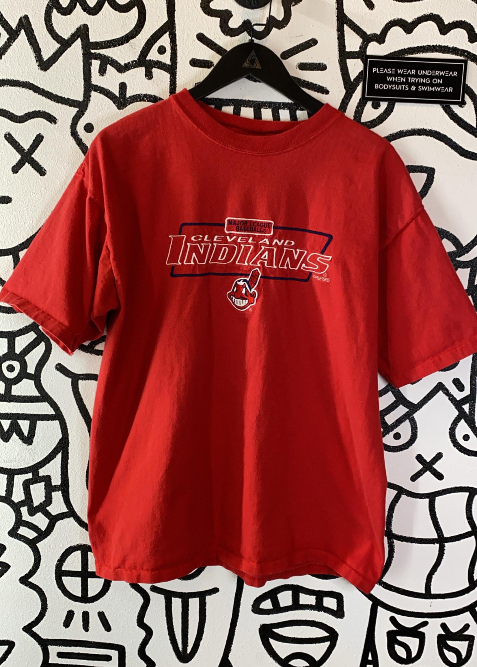 Puma Red Cleveland Indians Baseball Shirt M