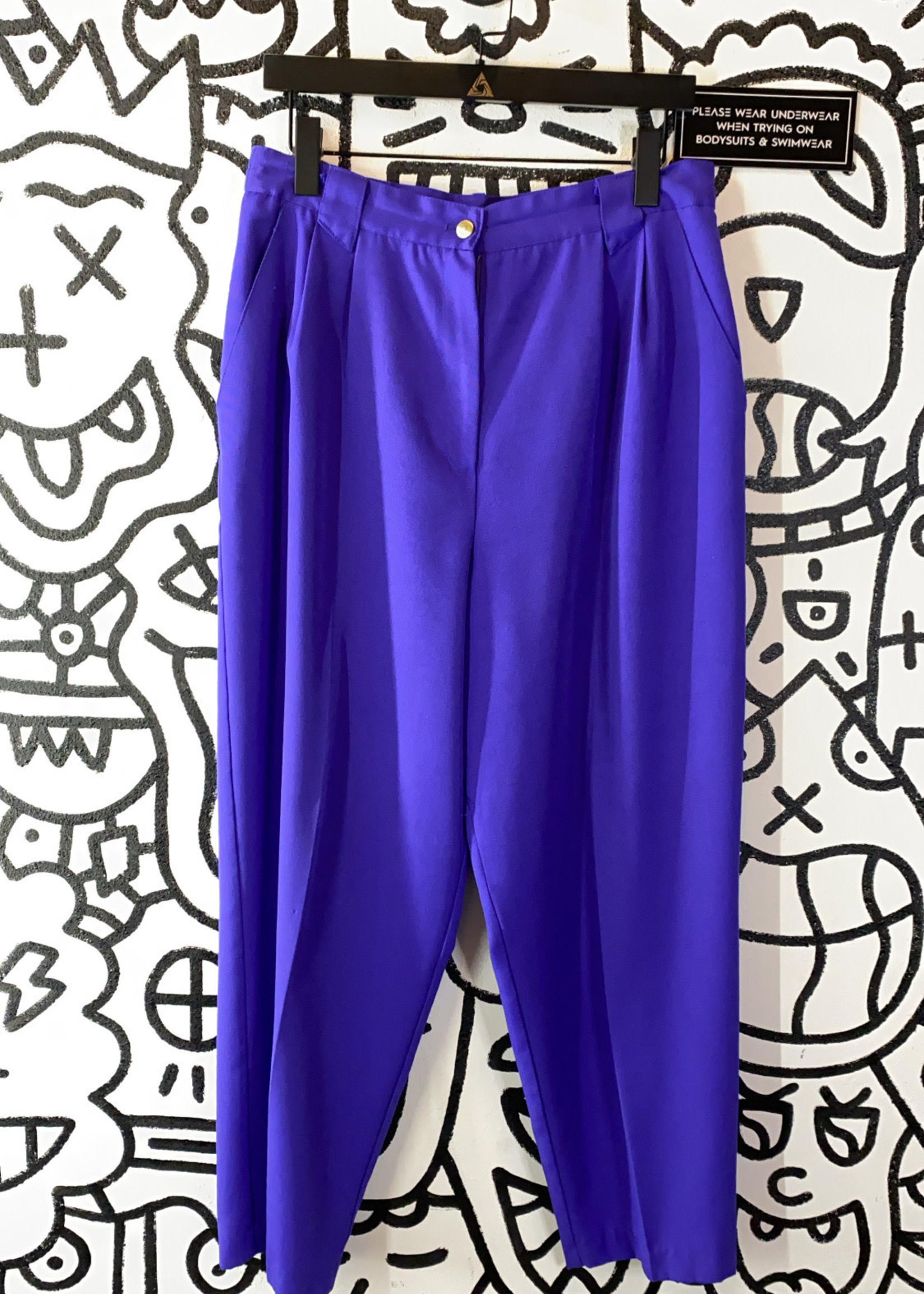 """Vintage Requirements Petite Purple Pants 32"""""""