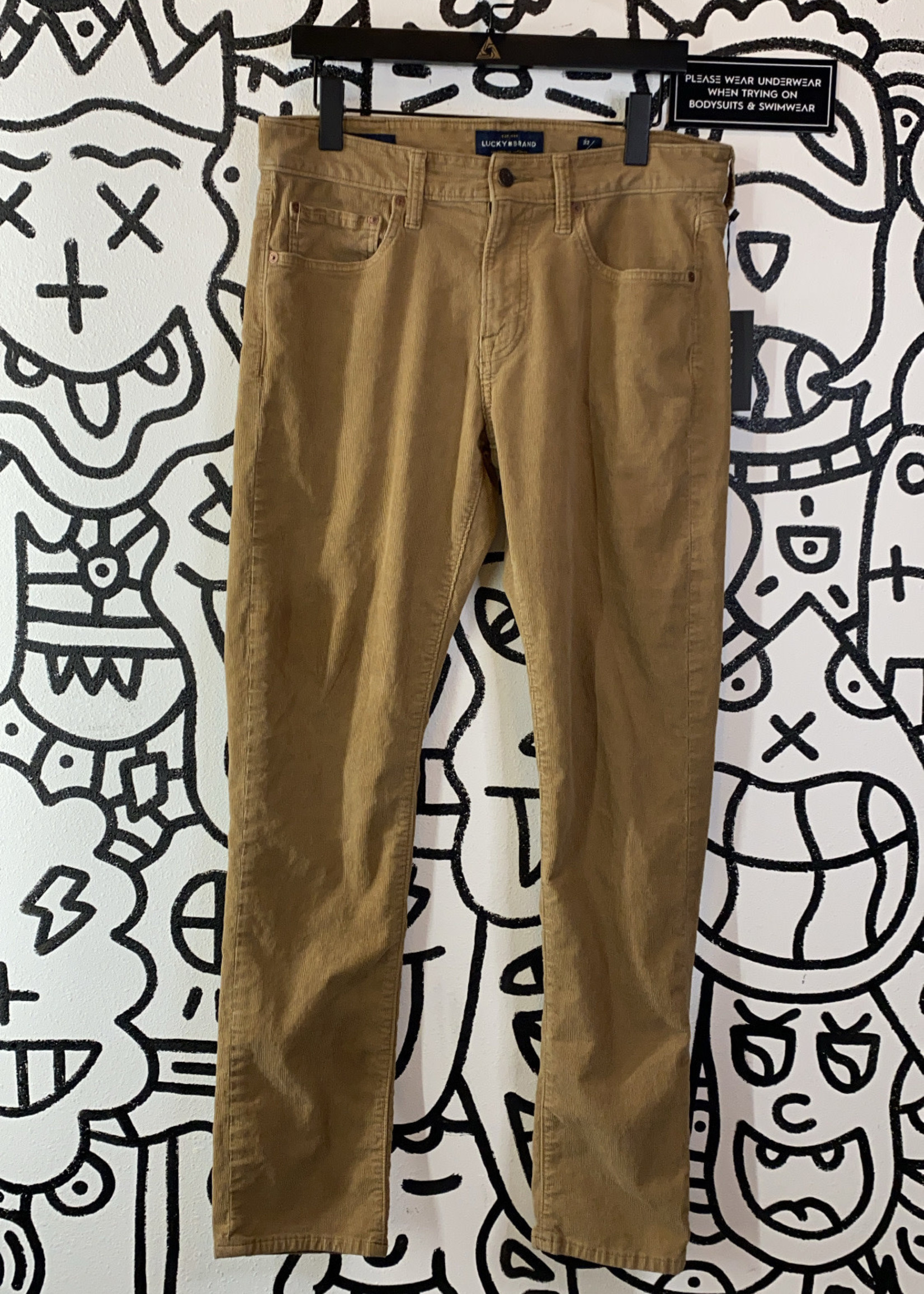 Lucky Brand Brown Cords 32x32