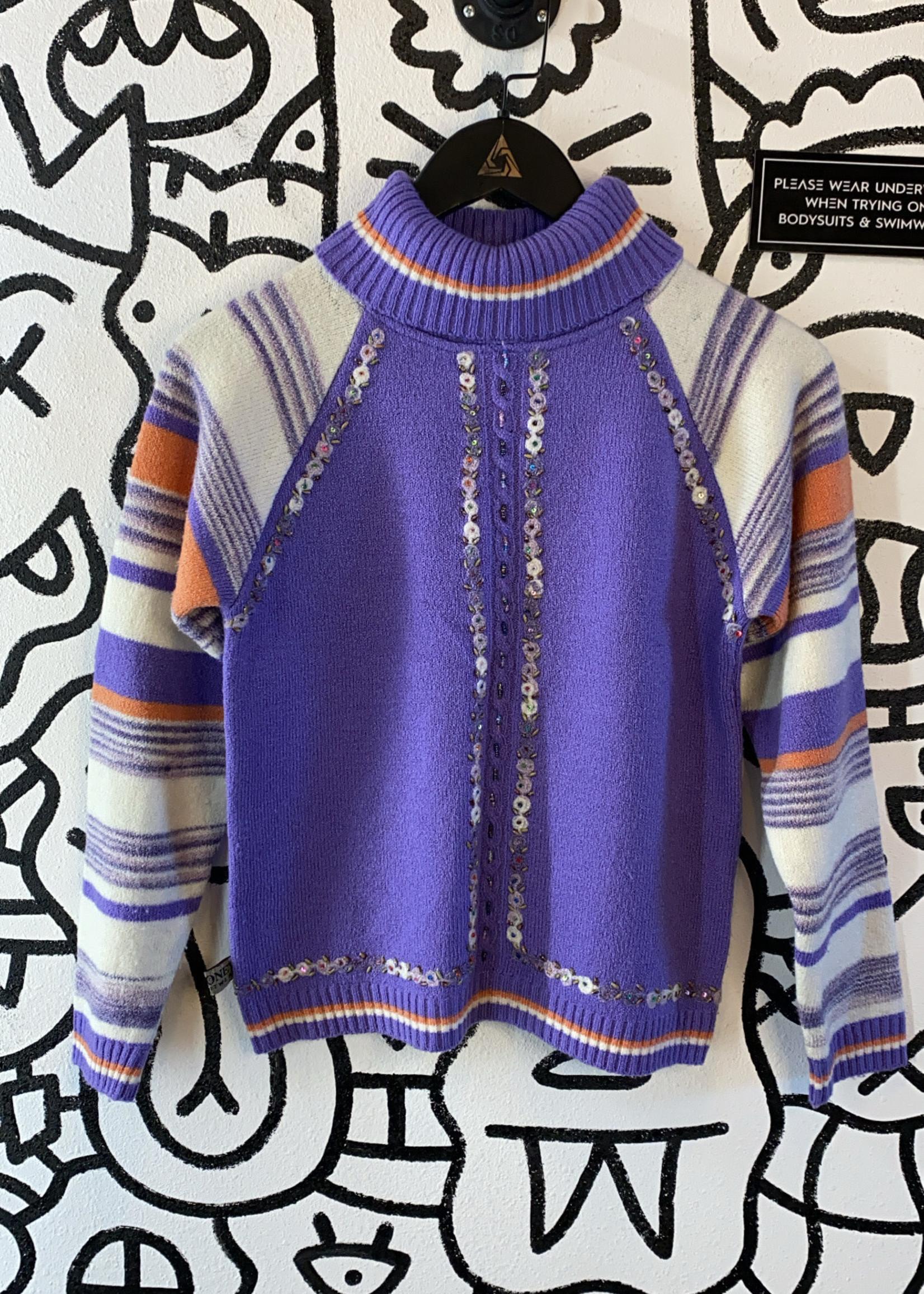 Vintage Purple Turtleneck Sweater