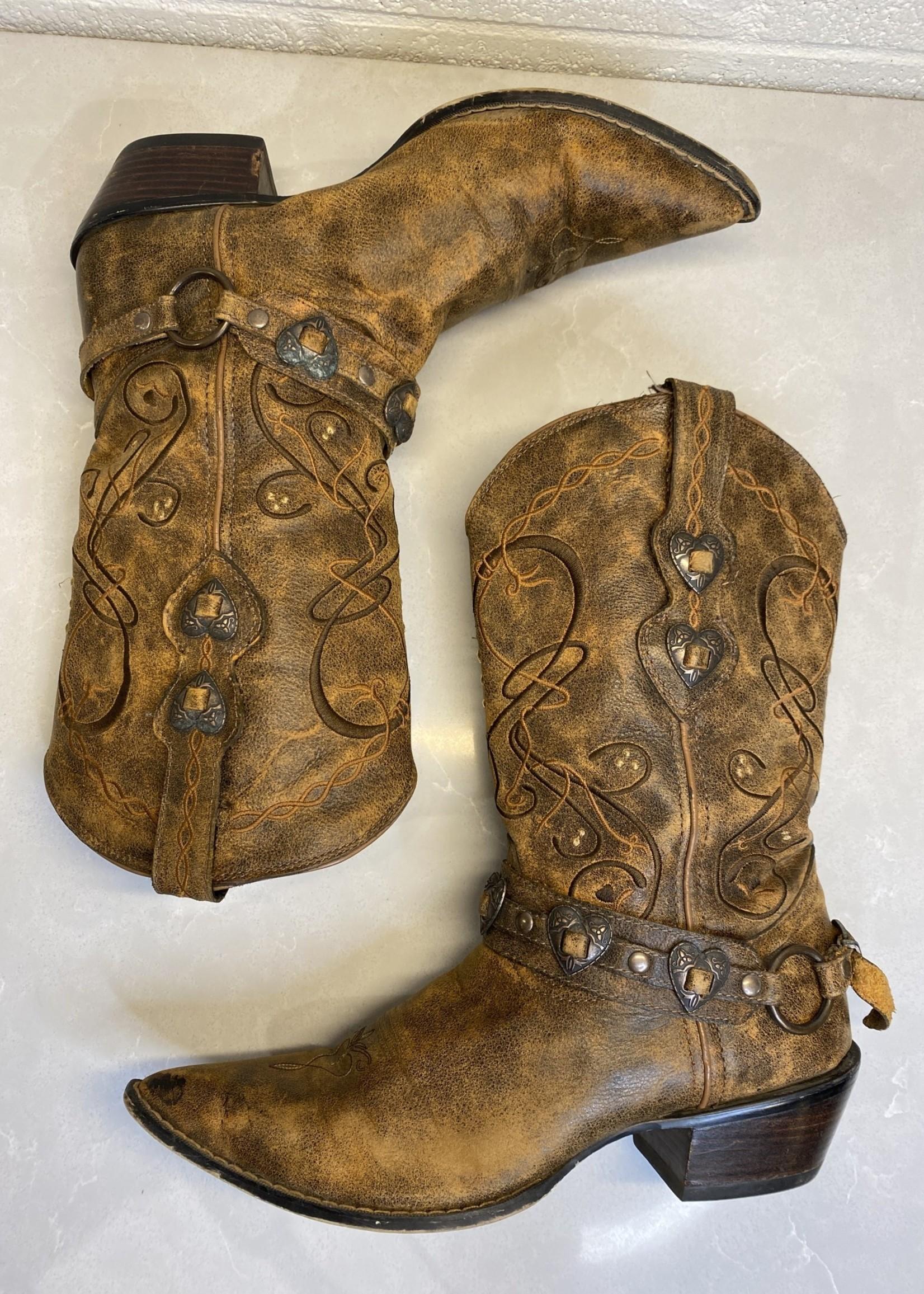 Durango Brown Leather Cowboy Boots 9.5