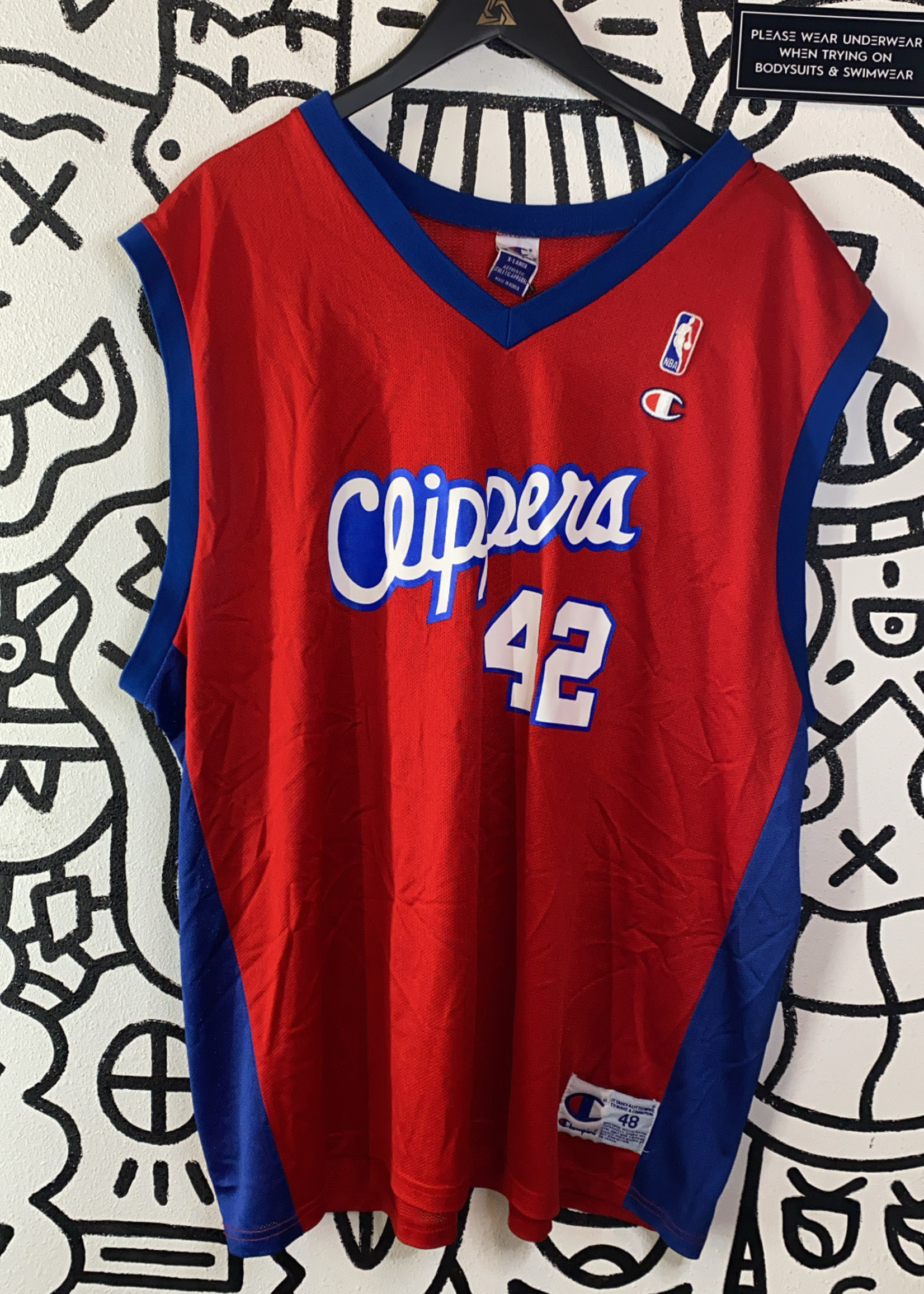 Champion Authentic Clippers Elton Brand Jersey XL
