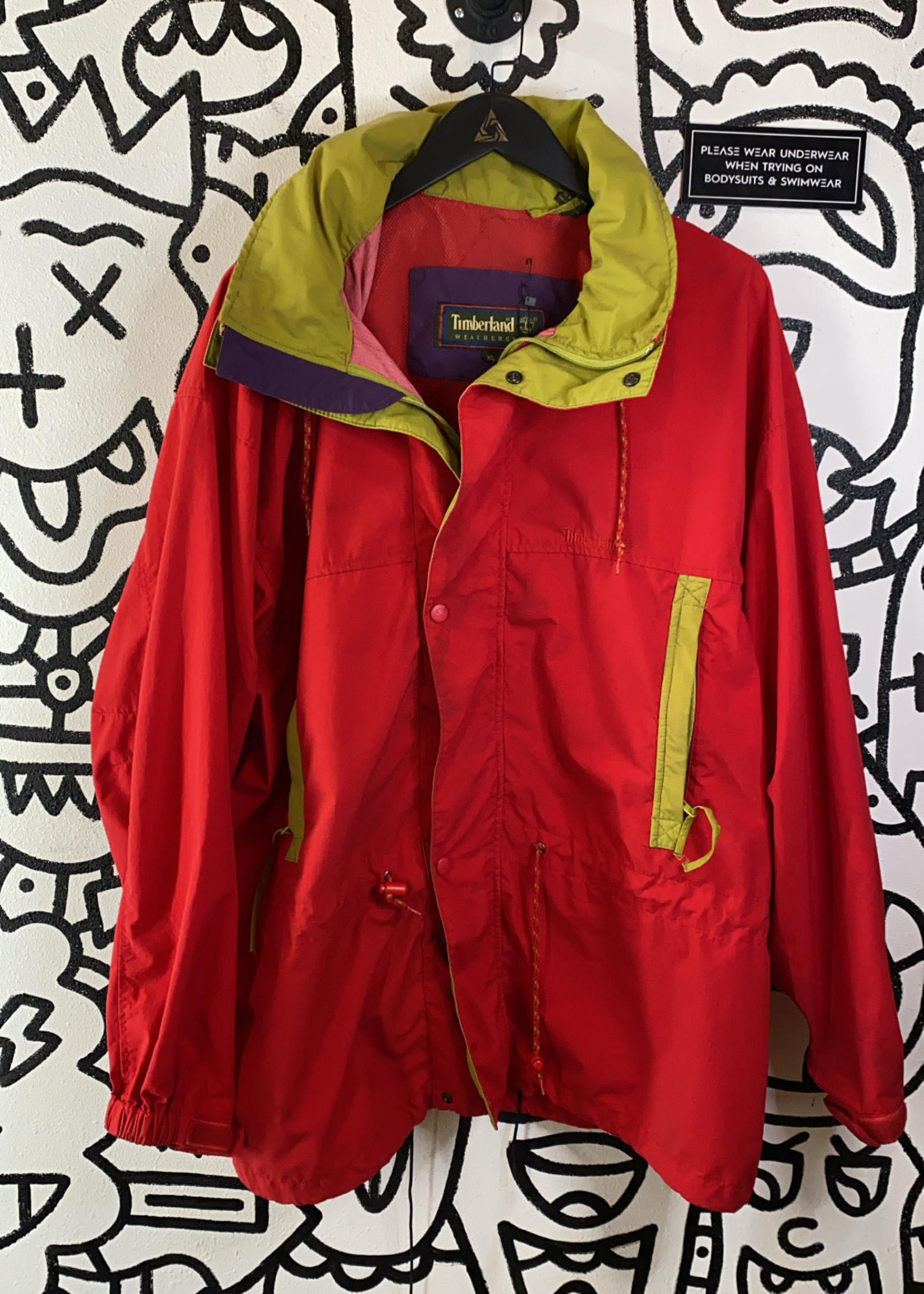 Vintage Timberland Multi Color Rain Jacket AS IS XL