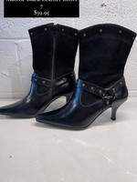 Matisse Black Leather Heeled Boots 7