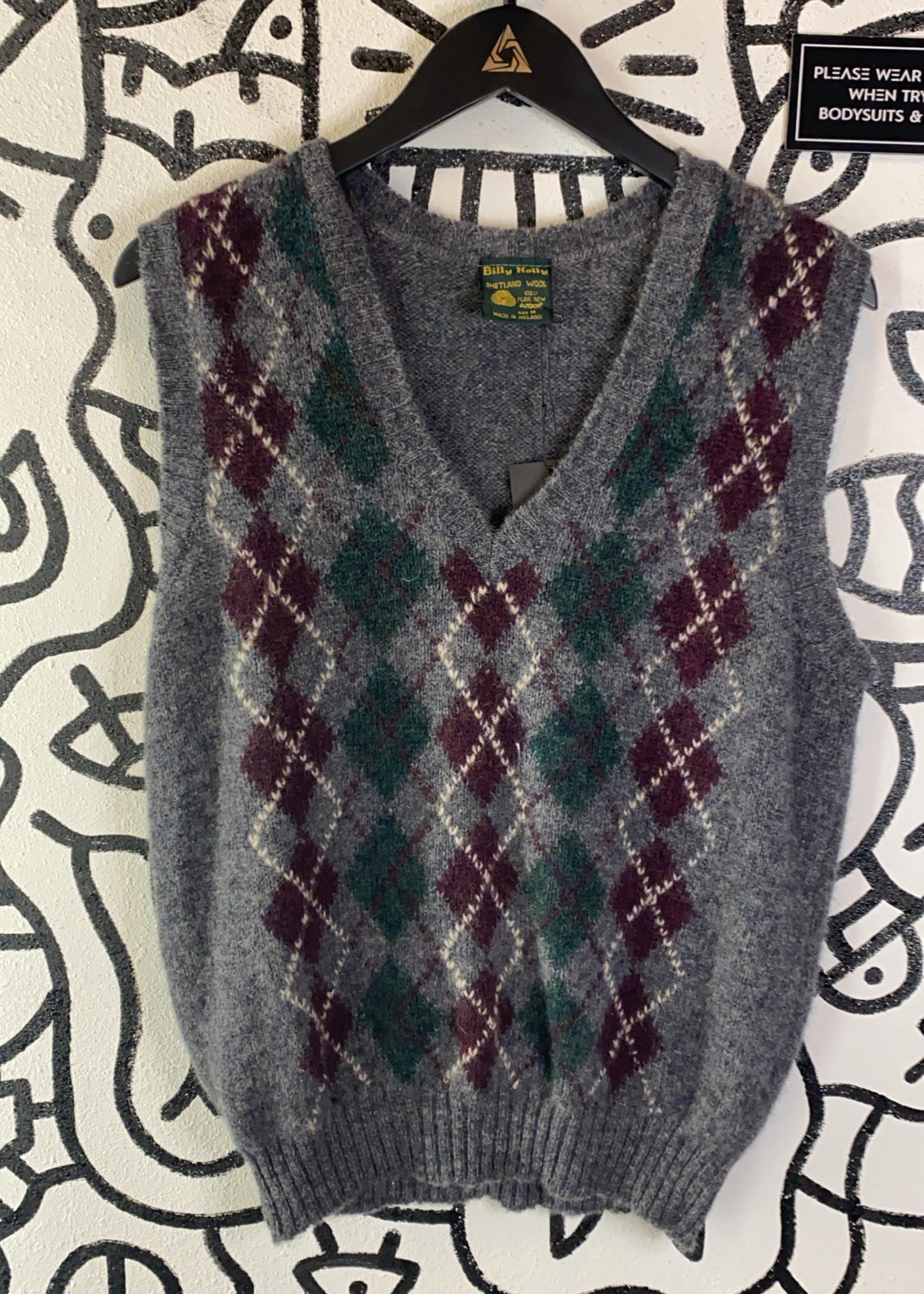 Billy Kelly Vintage Wool Sweater Vest M