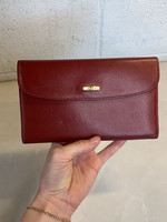 Longchamp Red Leather Wallet