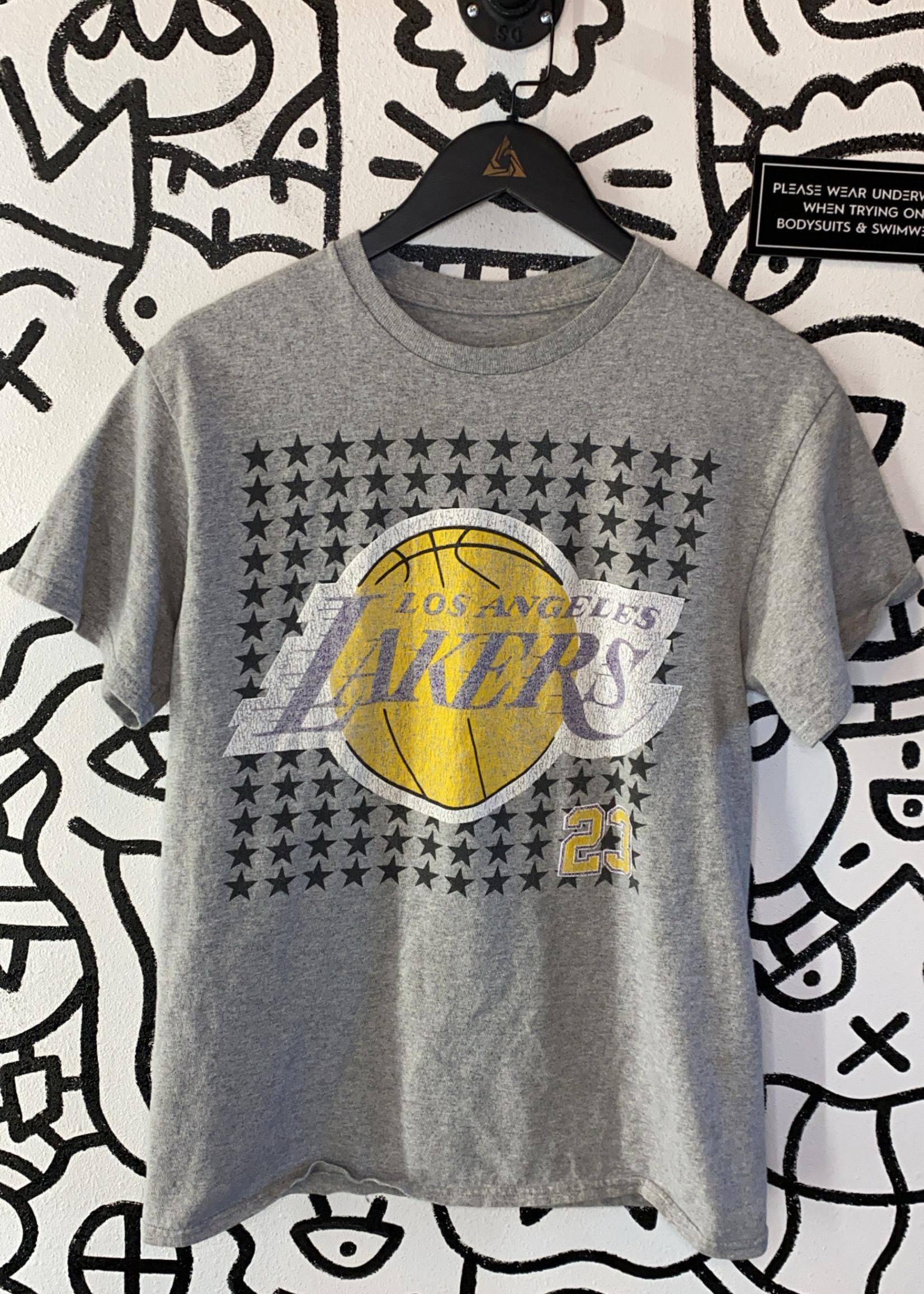 Lakers Grey James Tee M