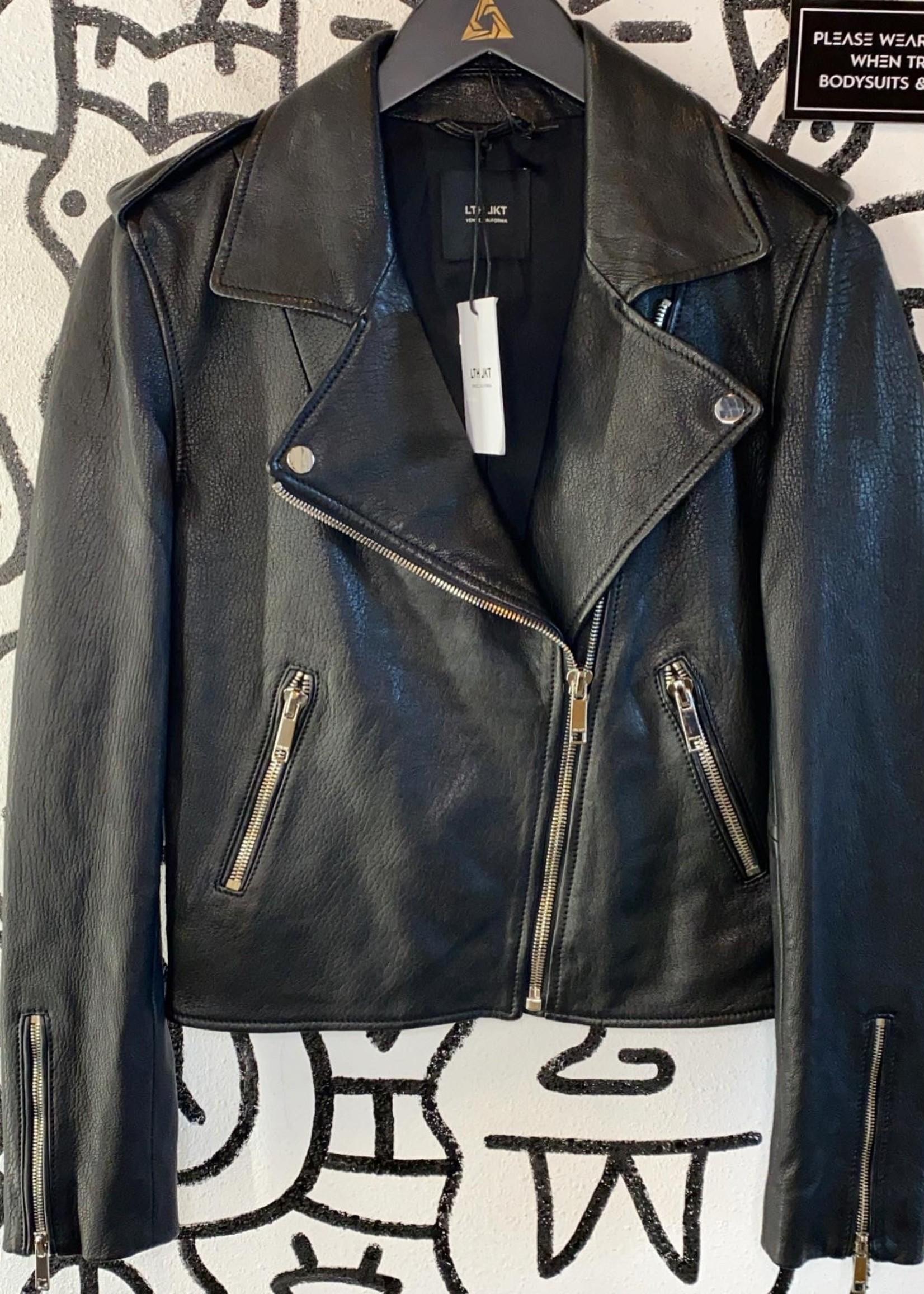 NWT LTH JKT Black Leather Jacket S